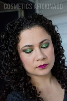 smoky eye friday green smoky eyes wine lip  #smokyeye #smokeyeye #smokyeyefriday #makeup #beauty @cosmeticsaficionado