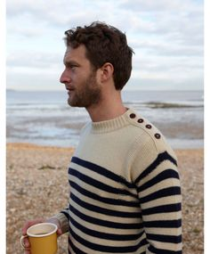 Why, I'd love to share a cup of coffee with you by the ocean, handsome stranger in a lovely sweater!  Thanks for asking.