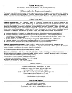 Entry Level Database Administrator Resume  Submission Specialist