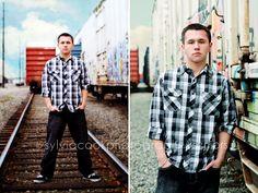 train tracks #senior portraits #sylviacookphotography #seniorboyportrait