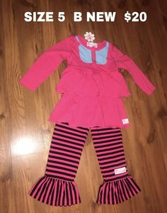 cc3f4831897 Ruffle Girls Outfit Set Size 5  fashion  clothing  shoes  accessories   kidsclothingshoesaccs
