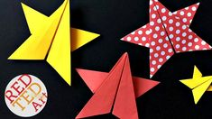 Gorgeous Origami Star DIY. Paper Star DIY - 5 Pointed Origami Paper Star - Paper Crafts. As you know we have made a number of origami stars here on Red Ted A...