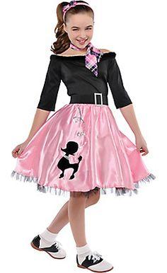 Girl's Miss Sock Hop Poodle Dress Halloween Costume Child's Large 12 - 14 Sock Hop Costumes, Halloween Costumes For Girls, Girl Costumes, Kids 50s Costume, 1950s Costumes, 70s Costume, Hippie Costume, Halloween Costume Shop, Halloween 2013