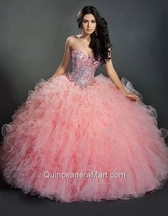 Beautiful Baby Pink Sweetheart Quinceanera Dresses with Beading and Sequins for 2014