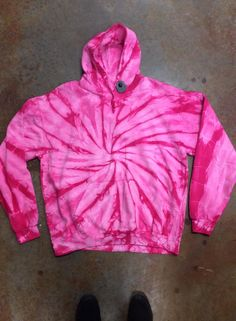 Tie Dye Pink Spiral Hoodie