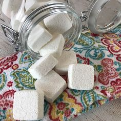easy-to-make homemade natural dishwasher detergent tabs and they REALLY WORK! Cleans stuck-on food, gets silverware shiny, & glasses sparkling! DIY essential oil recipe for dishwasher detergent tabs. Essential Oil Cleaner, Essential Oils Cleaning, Dishwasher Tabs, Dishwasher Detergent, Laundry Detergent, Homemade Shower Cleaner, Cleaners Homemade, Homemade Alcohol, Cleaning Recipes