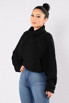 A Women's Worth Sweater - Black   Fashion Nova