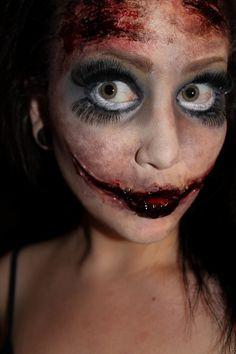 Dead Doll #halloween #deaddoll #doll #spooky - bellashoot.com #makeup