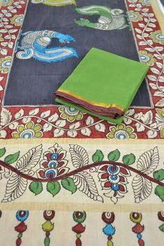 MANUFACTURERS, WHOLESALERS AND DISTRIBUTORS OF EXCLUSIVE AUTHENTIC HAND PAINTED PEN KALAMKARI DUPATTAS IN PURE MANGALGIRI COTTON. FOR WHOLESALE INQUIRIES AND BULK ORDERS CONTACT RUSHABH SUTARIA + 919909272587 ( WHATSAPP )