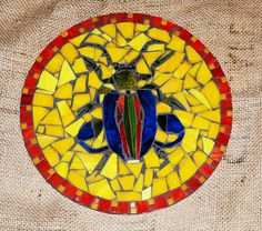Frog Legged Stained Glass Beetle Art by ArtInstitchtute on Etsy