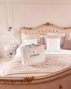Unboxing my new Chanel bag from Rue Cannon, Paris Rich Girl Bedroom, Master Bedroom Design, Bedroom Inspo, Bedroom Decor, Paris Bedroom, Pretty Bedroom, Dream Bedroom, My New Room, My Room