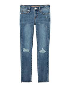 Joe's Jeans Kids' Girl's Mid Rise Distressed Skinny Jeans In Blue 70s Fashion, Fashion 2020, Korean Fashion, Fashion Hacks, Fashion Ideas, Denim Skinny Jeans, Distressed Skinny Jeans, Fashion Tips For Women, Womens Fashion