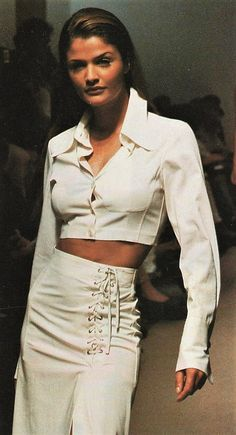 Helena Christensen for JIL SANDER Runway Show 90's