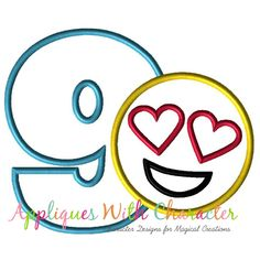 370938d69dd Emoji Love Nine Applique Embroidery Machine Design by Appliques With  Character Emoji Love