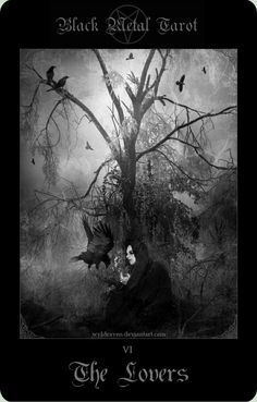Black Metal Tarot 9 by *wyldraven on deviantART