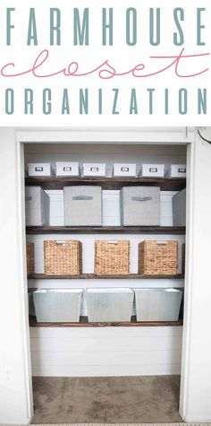 Farmhouse Craft Closet Organization Ideas And Tips For Small  Spaces Www.themountainviewcottage.net
