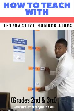 interactive number lines for 2nd and 3rd grade