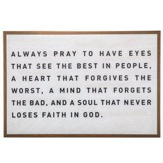Hobby Lobby: Always Pray Wood Wall Decor Wall Decor Quotes, Metal Wall Decor, Wall Wood, Quote Wall, Wall Decor Frames, Bedroom Wall Quotes, Living Room Quotes, Diy Quote, Wall Décor