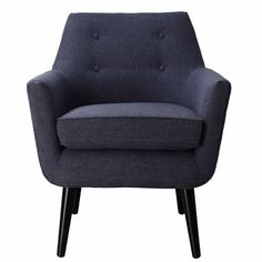 Clyde Accent Chair in Navy - Best Supporting Roles on Joss & Main