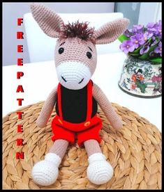 Crochet Bunny Pattern, Crochet Amigurumi Free Patterns, Crochet Animal Patterns, Crochet Bear, Stuffed Animal Patterns, Crochet Animals, Free Crochet, Bag Pattern Free, Halloween Crochet