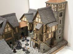 3D Board Games And Miniatures: Cadwallon / Arcadia Quest - Fenêtres de maison médiévale