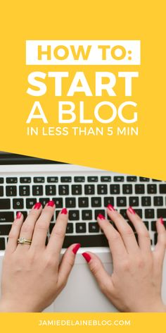 How to Start a Blog In Less than 5 Minutes > an awesome tutorial for beginner bloggers! http://jamiedelaineblog.com/post/25887/how-to-start-a-blog-with-wordpress/