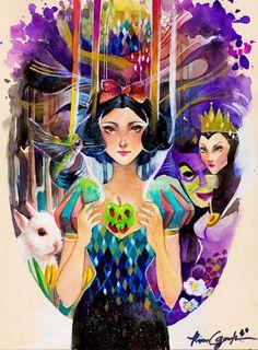 This site contains information about disney painting class. Disney Pixar, Disney Fan Art, Disney And Dreamworks, Disney Love, Disney Magic, Disney Stuff, Walt Disney, Snow White Art, Snow White Disney