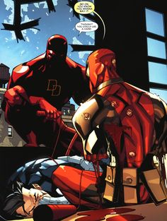 "Daredevil and Deadpool - ""Thought you could use a hand."""