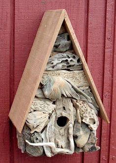 The Wing Driftwood Birdhouse by calirosann, via Flickr