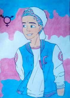 Casa Anime, Transgender Ftm, Trans Boys, Trans Art, Boy Drawing, Gay Aesthetic, Boys Wallpaper, Cartoon Memes, Gay Art