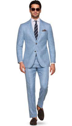 Suit Blue Plain Havana P5426 | Suitsupply Online Store