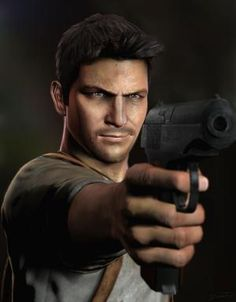 Nathan Drake. Yes, cartoons can be hot. Get off my case.