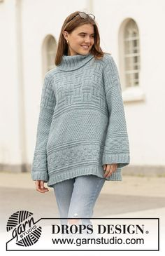 Free knitting patterns and crochet patterns by DROPS Design Drops Design, Knit Cardigan Pattern, Chunky Knit Cardigan, Chunky Knitting Patterns, Free Knitting, Crochet Patterns, Magazine Drops, Jumpers For Women, Sweaters