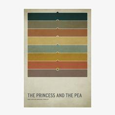 Poster - Prinzessin auf der Erbse - L von Square Inch Design | MONOQI