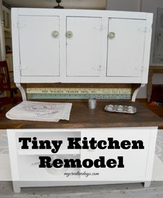 Do you have a tiny kitchen in need of a makeover? Check out this Tiny Kitchen Remodel I did for my mom.