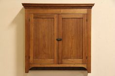 1 of 12: Country Walnut Antique 1860 Hanging or Countertop Cupboard