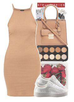 """""""Mocah baby"""" by s0-childish ❤ liked on Polyvore featuring Michael Kors, Forever 21, FRUIT and Puma"""