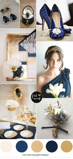 gold and navy blue wedding colours palette,navy blue and gold wedding colors,wedding colours,wedding mood board,wedding inspirations Navy Blue And Gold Wedding, Gold Wedding Colors, Wedding Color Schemes, Wedding Themes, Navy Gold, Dark Navy, Wedding Cakes, Wedding Flowers, Navy Blue Bridesmaids