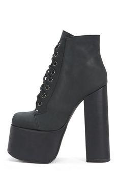 Jeffrey Campbell Shoes GOTHAM Platforms in Black Washed