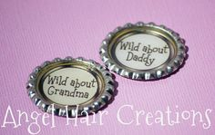 Personalized Bottle Caps  Wild About by angelhaircreations on Etsy, $2.50