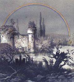 """Image copyright                  Science Photo Library Image caption                                      Un arcoíris lunar sobre un castillo en Compiègne, Francia, pintado por Camille Flammarion y publicado en su revista """"La Atmósfera"""" en 1873.                                ¡Mira, un arcoíris! Aunque los descubrimos y nos maravillaron de niños, no pierden su magia: cuando aparecen son irresistibles. Usualmente los vemos de d"""