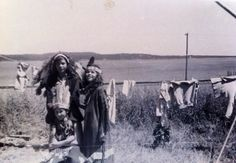 Native American Children in traditional garb. This photo comes from my mother, Constance O'Keefe Maloney's photo album. It was taken some time in the 1940s during the summer she spent working at an Indian Reservation in New Hampshire. I am unsure which Reservation it was or exactly what year they were taken.