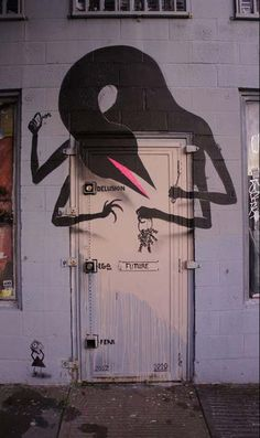 Best Graffiti & Amazing Street Art - Delusion, Ego, Fear. street art by 1010