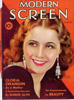 Vintage Movie Magazine Cover - Barbara Stanwyck - 1932