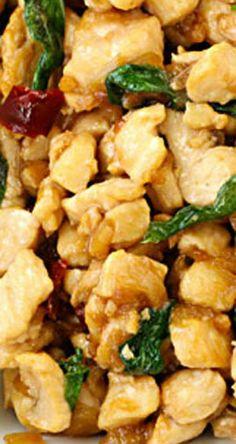 Thai Basil Chicken (gai pad kraprow)   gimmesomeoven.com