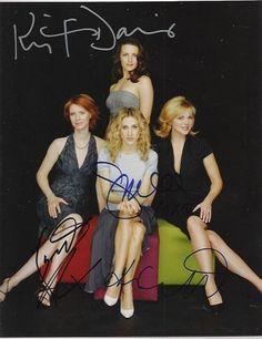 Sex and the City Authentic Cast Signed 8x10 Autograph Photo - Sarah Jessica Parker, Kim Cattrall, Kristin Davis and Cynthia Nixon