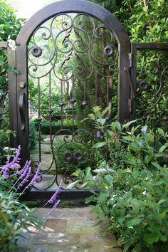 Hand forged iron garden gate | Mirage Landscape