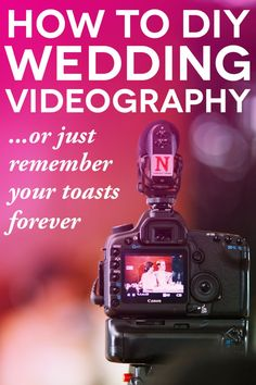 So, a friend offered to record video for your wedding. Here are tips and tricks so they'll make your wedding video look like a pro did it!