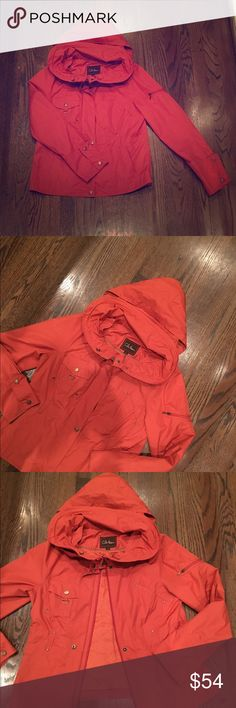 Cole Haan light jacket in spice orange 🍊 This is the perfect little jacket 🐝 Cole Haan Jackets & Coats Utility Jackets