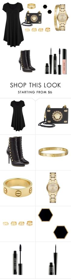 """""""Untitled #52"""" by katiemarte ❤ liked on Polyvore featuring Versace, Balmain, Cartier, Burberry, Charlotte Russe, Janna Conner Designs, Lord & Berry and Bobbi Brown Cosmetics"""